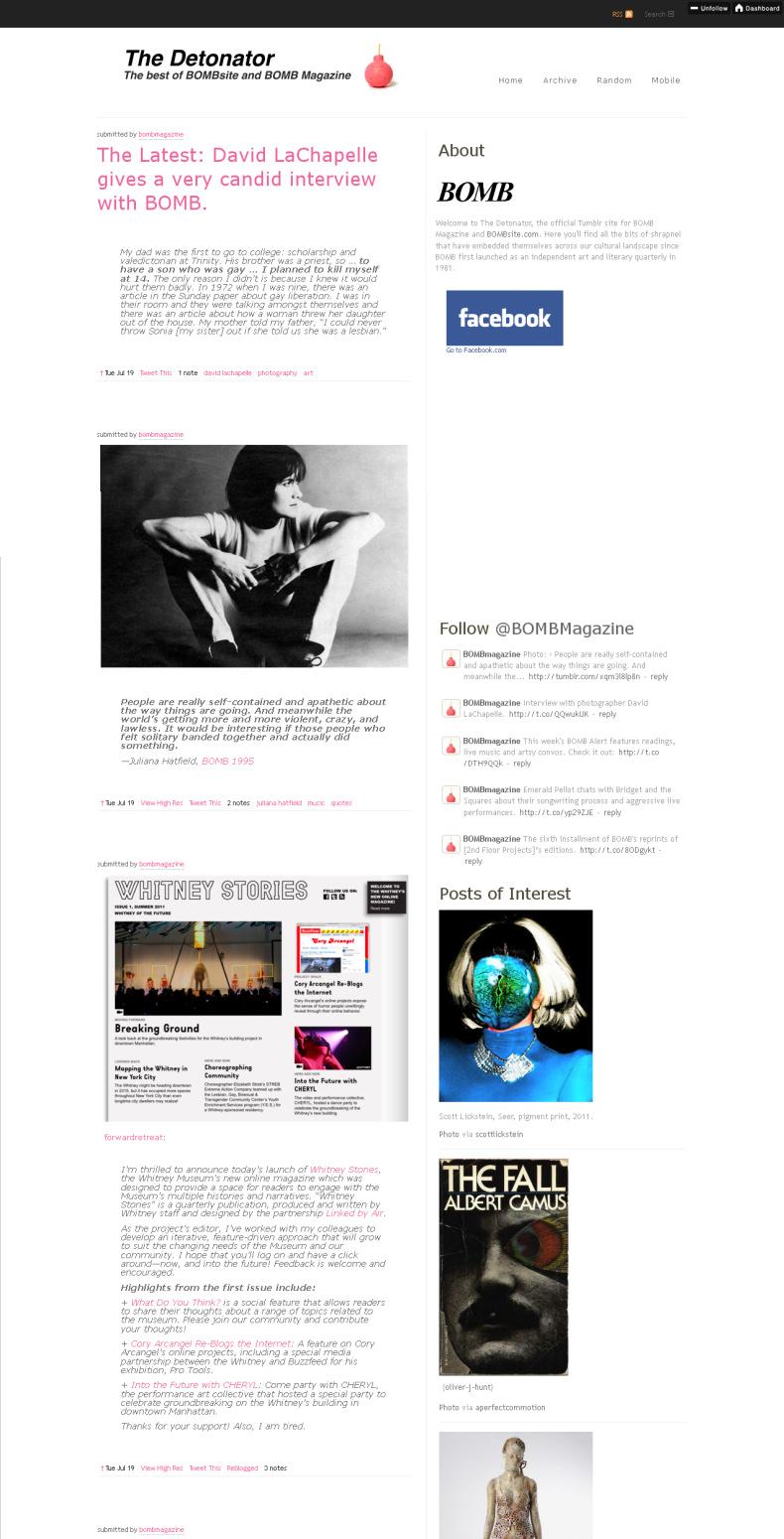 Scott Lickstein - Seer - Bomb Magagzine - 2011