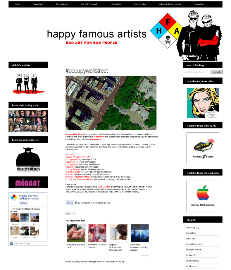 Scott Lickstein - Happy Famous Artists - 2011