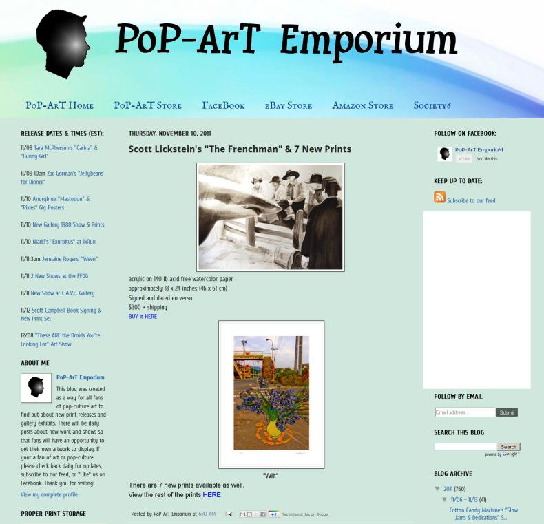 Scott Lickstein - Pop-Art Emporium - 2011
